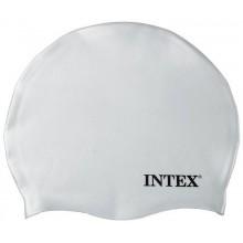 INTEX Silikonová plavecká čepice, bílá, věk 8+ 55991