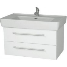 INTEDOOR NORDIC koupelnová skříňka 85 cm, závěsná s umyvadlem, bílá NR 85 01