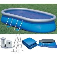 INTEX EASY OVÁL 549x305x107 cm bazén + kartušová filtrace 26194