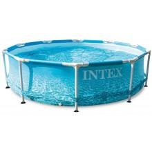 INTEX Bazén Beachside Metal Frame pool s kartušovou filtrací 3,05m x 0,76m 28208NP