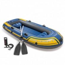 INTEX Challenger 3 Set Nafukovací člun ( modrý ), 295 x 137 x 43 cm 68370NP
