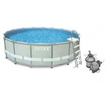 INTEX Bazén Frame Pool Set Ultra Rondo 549 x 132 cm, filtrace a schůdky 28336