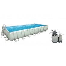 INTEX Bazén Frame Pool Set Ultra Quadra 975 x 488 x 132 cm, písková filtrace 28376NP