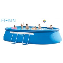 INTEX Bazén Oval Frame Pool 3,66 x 6,10 x1,22 m, 28194NP