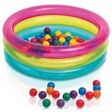 INTEX BABY BALL PIT Hrací bazének se třemi prstenci 86 x 25 cm 48674