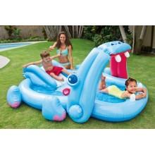 INTEX Hippo Play Center dětský bazén se skluzavkou 221 x 188 x 86 cm 57150