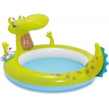 INTEX Aligátor dětský bazén s rozstřikovačem 57431NP