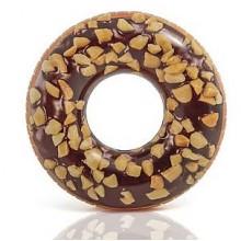 INTEX Nutty Chocolate Nafukovací kruh donut, 56262NP