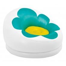 INTEX Nafukovací křeslo květina, bílá/zelená 68574
