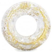 INTEX Nafukovací kruh s flitry, zlatý 56274NP