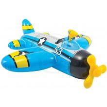 INTEX Nafukovací letadlo s vodní pistolí, modré 57537