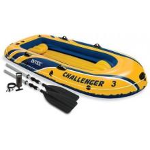 INTEX Challenger 3 Set Nafukovací člun, 295 x 137 x 43 cm 68370