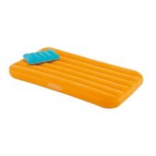 INTEX 66801 COZY KIDS AIRBED nafukovací dětská matrace 157x88x18cm oranžová