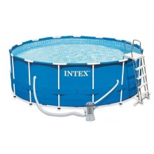 INTEX METAL FRAME POOLS SET 4,57m X 1,22m s kartušovou filtrací 26724NP