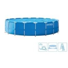 INTEX Bazén Metal Frame Pools 4,57m x 1,22m, s filtrací 28242NP