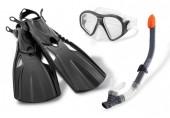INTEX Plavecká sada: ploutve, šnorchl, brýle, věk 14+ 55657