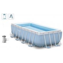 INTEX PRISM FRAME RECTANGULAR POOL Bazén 300 x 175 x 80 cm s kartušovou filtrací, 28314GN