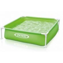 INTEX Bazén Frame Mini 1,22 x 1,22 x 0,3m zelený, 57172NP