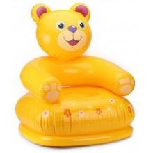 INTEX HAPPY ANIMAL CHAIR Nafukovací dětské křeslo 65 x 64 x 74 cm, medvěd 68556