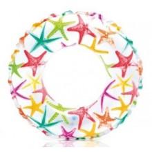INTEX Lively Print nafukovací kruh, hvězdy 59241NP