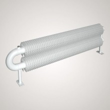 ISAN SPIRAL RAO2 radiátor na zem sněhově bílá (RAL 9016) 4000/57x2,5x137 ZRAO257137400F01