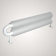 ISAN SPIRAL RAO2 radiátor na zem kov (RAL 9006) 500/76x2,5x156 ZRAO276156050F20