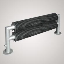 ISAN SPIRAL RAT2 radiátor na zem kov (RAL 9006) 500/32x2,0x92 ZRAT232092150F20