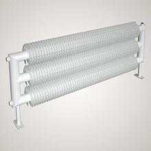 ISAN SPIRAL RAT3 radiátor na zem sněhově bílá (RAL 9016) 4000/57x2,5x137 ZRAT357137400F01