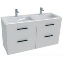 Jika CUBE Skříňka s umyvadlem 120x43cm, s 4 zásuvkami, bílá H4536621763001