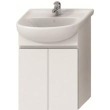 Jika LYRA Skříňka s 2 dveřmi pod umyvadlo 55cm bílý lak/bílá H4531110383001