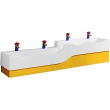 KERAMAG 4Bambini boční nízký kryt.bar.,pravý-žlutá 430070304