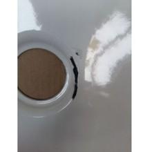 VÝPRODEJ Kaldewei SANIFORM PLUS 375-1 vana 180 x 80 x 43 cm, bílá RR__112800010001 ODŘENÁ PŘI POHLEDU NA VANU - NAPRAVO NA HRANĚ OD SIFONU