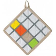 KELA Chňapka MADLENE 20x20 cm bílá se vzorem KL-11320