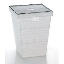 KELA Koš na prádlo NOBLLESE PP bílý, 40x40x53cm KL-21083