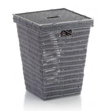 KELA Koš na prádlo NOBLESSE PP plast, šedý 40x40x53 cm KL-22602