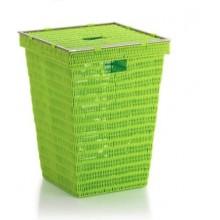 KELA Koš na prádlo NOBLESSE PP plast, světle zelený 40x40x53 cm KL-22607