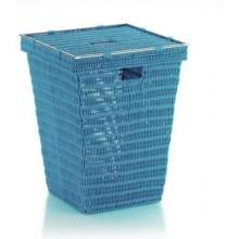 KELA Koš na prádlo NOBLESSE PP plast, tyrkys 40x40x53 cm KL-22612