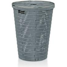 KELA Koš na prádlo NOBLESSE PP plast, světle šedý 41x56 cm KL-22780