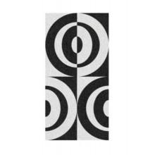 KELA Ručník 70x140cm LADESSA 100% bavlna, černá / bílá KL-22206