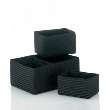 KELA Sada košů RIMOSSA 5ks, plast, černá KL-21780