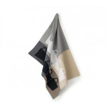KELA TABEA utěrka 100% bavlna, 50x70cm, béžová/šedá KL-11730