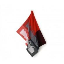 KELA TABEA utěrka 100% bavlna, 50x70cm, červená/šedá KL-11731