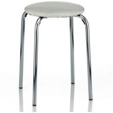 KELA Židle GERETT, sedák polstrovaný bílý KL-18798
