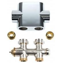 Kermi ventilový blok, přímý, clona chrom ZV00400002