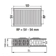 VÝPRODEJ Kermi Therm X2 Profil-Kompakt deskový radiátor 22 600 / 1800 FK0220618 POŠKOZENÁ HORNÍ MŘÍŽKA + ŠKRÁBLÝ Z PŘEDNÍ STRANY