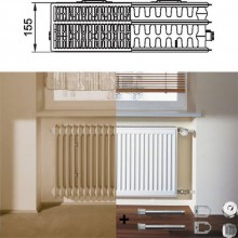 Kermi Therm X2 Profil-kompakt deskový radiátor pro rekonstrukce 33 554 / 900 FK033D509