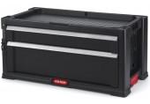 KETER box na nářadí - 2 zásuvky, černý 17199303