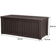 KETER ROCKWOOD 570L zahradní úložný box 155 x 72,4 x 64,4 cm, hnědá 17197729