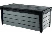 VÝPRODEJ KETER BRUSHWOOD Storage zahradní úložný box, 455 l, antracit/šedá 17202631 , prasklý plast