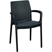 KETER BALI Mono zahradní židle, 55 x 60 x 83 cm, antracit 17190206